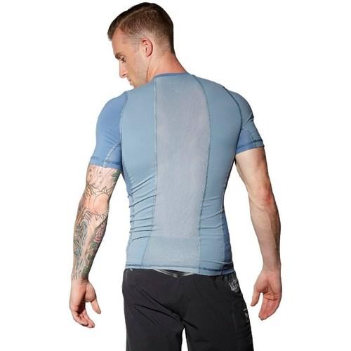 .co.uk  Combat Rash Guard  Reebok Sport  short-sleeved t-shirts  men  blue