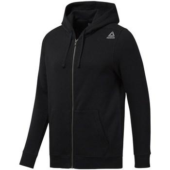 Clothing Men Sweaters Reebok Sport EL Fleece FZ Black Black