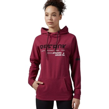 Clothing Women sweaters Reebok Sport Workout Cotton Series Oth Burgundy