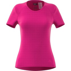 Clothing Women short-sleeved t-shirts adidas Originals FR SN SS Tee W Pink
