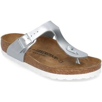 Shoes Children Flip flops Birkenstock Gizeh Silver