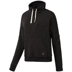 Clothing Women sweaters Reebok Sport Marble Cowl Neck Black