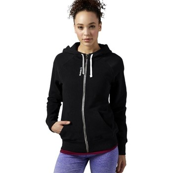 Clothing Women sweaters Reebok Sport EL Fullzip Black
