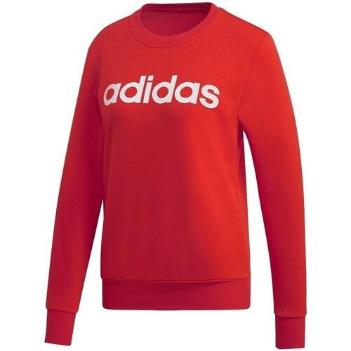 Clothing Women Sweaters adidas Originals W Essentials Linear Crewneck Red
