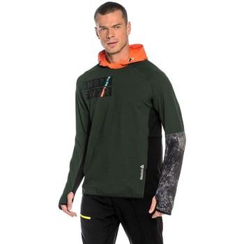 Clothing Men sweaters Reebok Sport DT Stretch Oth Z Green,Orange