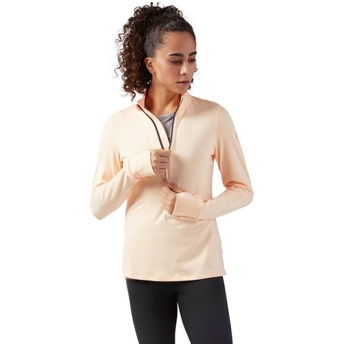 Clothing Women sweaters Reebok Sport 14 Zip Running Pink