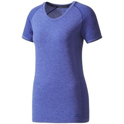 Clothing Women short-sleeved t-shirts adidas Originals Primeknit Wool Violet