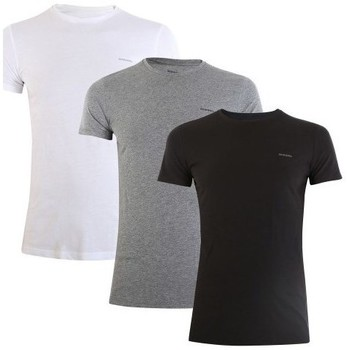 Clothing Men Short-sleeved t-shirts Diesel Umtee Jake 3PACK White, Black, Grey