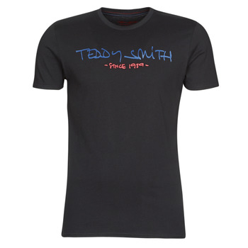 Clothing Men short-sleeved t-shirts Teddy Smith TICLASS Black