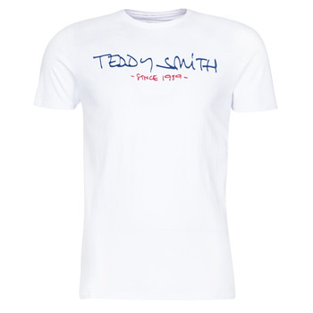 Clothing Men short-sleeved t-shirts Teddy Smith TICLASS White