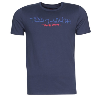 Clothing Men short-sleeved t-shirts Teddy Smith TICLASS Marine