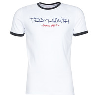 Clothing Men Short-sleeved t-shirts Teddy Smith RINGER TEE White