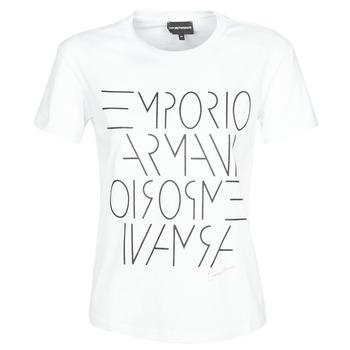 Clothing Women short-sleeved t-shirts Emporio Armani  White