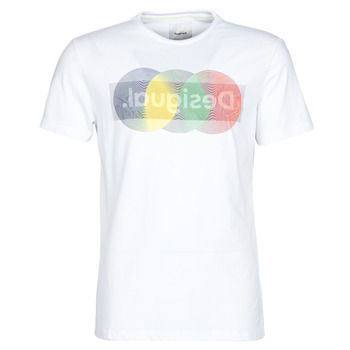 Clothing Men Short-sleeved t-shirts Desigual KARAMAT White