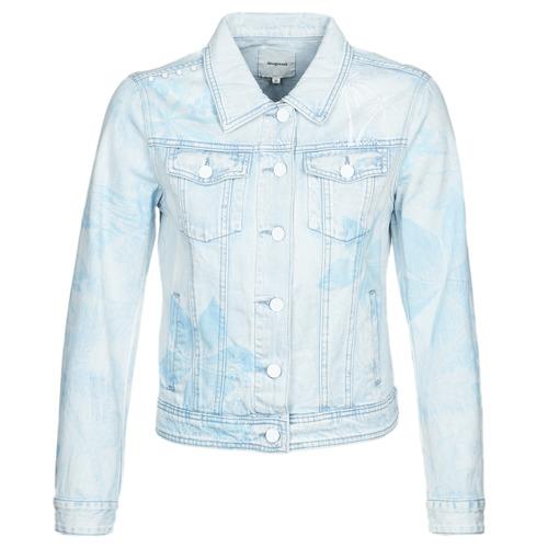 Clothing Women Denim jackets Desigual WHAII Blue