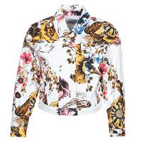 Clothing Women Denim jackets Desigual FANTASY Multicolour