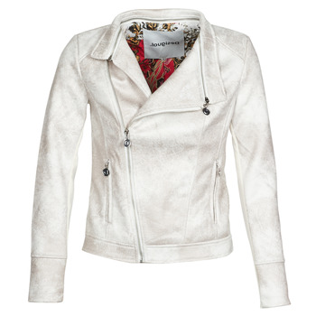 Clothing Women Leather jackets / Imitation leather Desigual BROWARD White