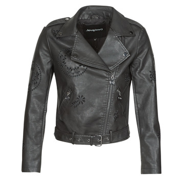 Clothing Women Leather jackets / Imitation leather Desigual UTAH Black