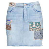 Clothing Women Skirts Desigual PATTY Blue
