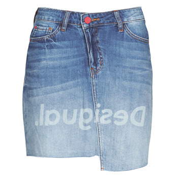 Clothing Women Skirts Desigual LOG Blue