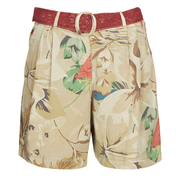 Clothing Women Shorts / Bermudas Desigual PEARL HARBOUR Beige