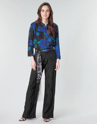 Clothing Women Wide leg / Harem trousers Desigual GLYFADA Black