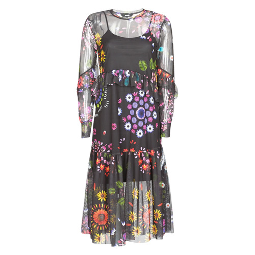 Clothing Women Long Dresses Desigual PORTLAND Multicoloured