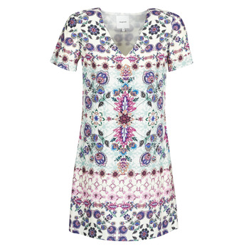 Clothing Women Short Dresses Desigual YUKON Multicolour