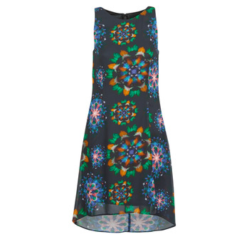 Clothing Women Short Dresses Desigual CLAIR Multicolour