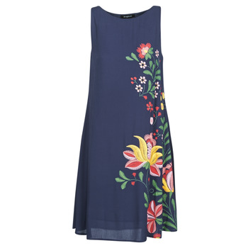Clothing Women Short Dresses Desigual ANJOU Marine