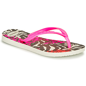 Shoes Girl Flip flops Havaianas SLIM ANIMALS Pink /  black