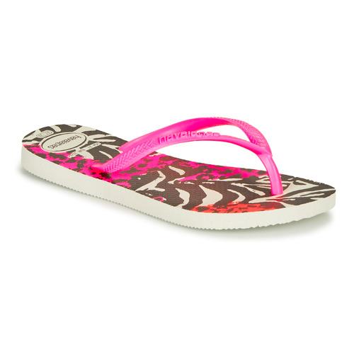 Shoes Girl Flip flops Havaianas SLIM ANIMALS Pink /  black