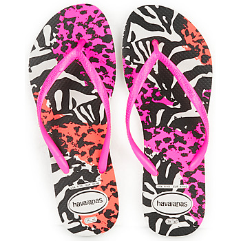 Shoes Women Flip flops Havaianas SLIM ANIMALS Pink /  black