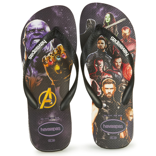 Shoes Men Flip flops Havaianas TOP MARVEL  black