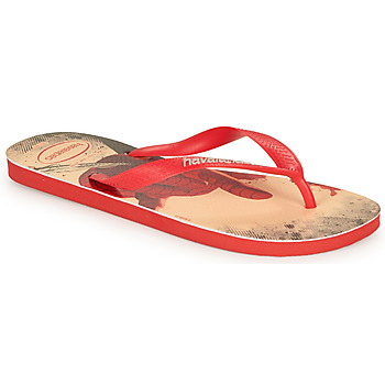 Shoes Men Flip flops Havaianas TOP MARVEL Red /  black