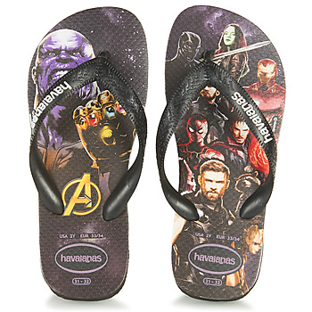 Shoes Boy Flip flops Havaianas KIDS MARVEL  black / Multicoloured