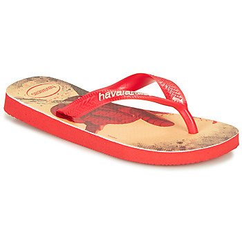 Shoes Boy Flip flops Havaianas KIDS MARVEL Red /  black