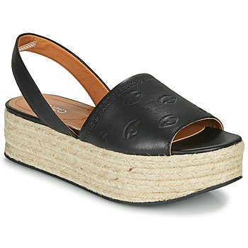 Shoes Women Espadrilles Kenzo ESPADRILLE PLATEFORM SANDAL Black