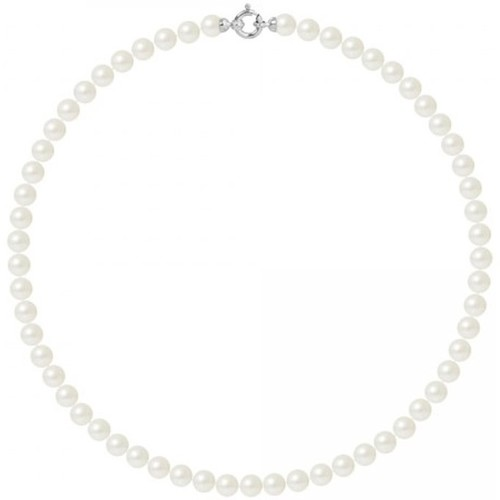 Watches Women Necklaces Blue Pearls BPS K062 W - OB White