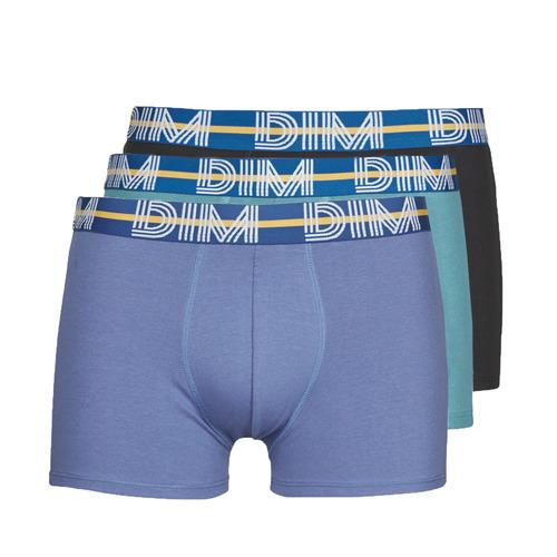 Underwear Men Boxer shorts DIM BO POWERFUL X3 Blue / Green / Black