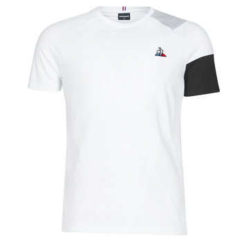 Clothing Men short-sleeved t-shirts Le Coq Sportif ESS Tee SS N°10 M Black / Grey