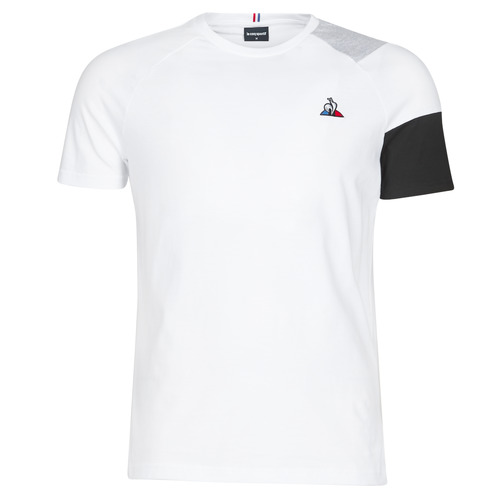 Clothing Men short-sleeved t-shirts Le Coq Sportif ESS Tee SS N°10 M Black / Grey