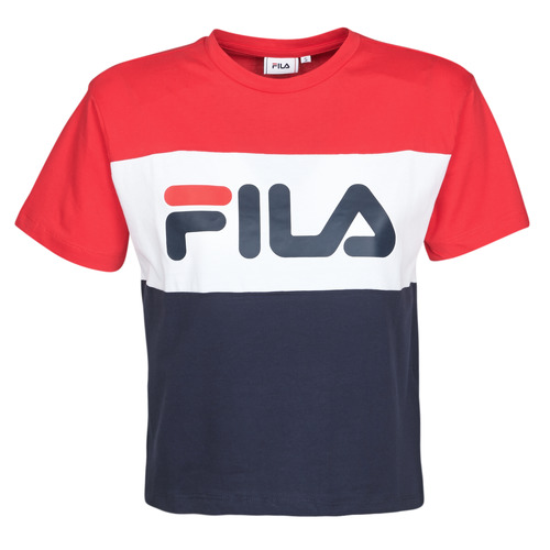Clothing Women short-sleeved t-shirts Fila Allison Marine / Red / White