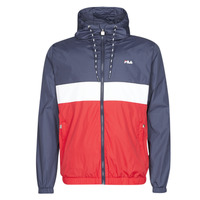 Clothing Men Jackets / Blazers Fila Bertalan Marine / Red / White