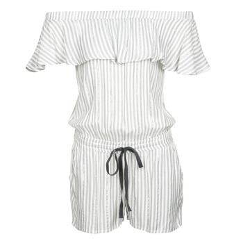 Clothing Women Jumpsuits / Dungarees Deeluxe FAYME White / Blue
