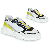 Shoes Women Low top trainers Serafini OREGON White / Black / Yellow