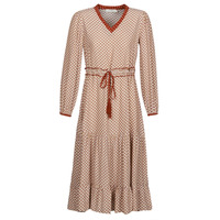 Clothing Women Long Dresses Cream MALOU Bordeaux