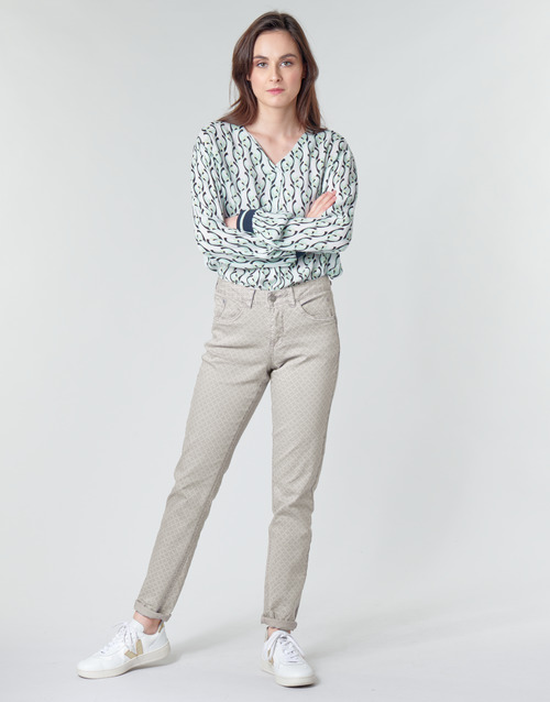 Clothing Women 5-pocket trousers Cream ANNIE Grey