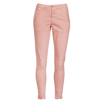 Clothing Women straight jeans Cream CALINA Pink