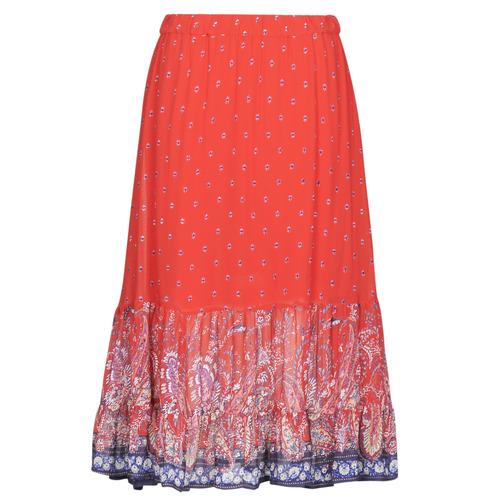 Clothing Women Skirts Cream NALITA Red